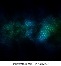 Dark Blue, Green vector template with lines, triangles. Colorful illustration with triangles in simple style. Template for wallpapers.