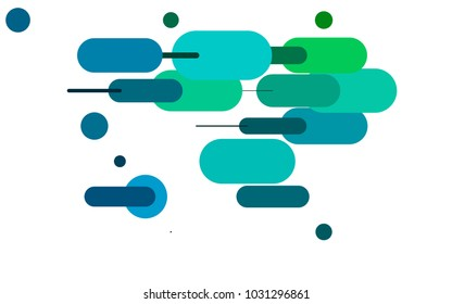 Dark Blue, Green vector texture with colored capsules. Shining colored illustration with rounded stripes. The pattern can be used for medical ad, booklets, leaflets