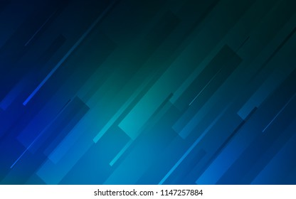 Dark Blue, Green vector texture with colored lines. Decorative shining illustration with lines on abstract template. Template for your beautiful backgrounds.