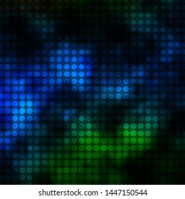 Dark Blue, Green vector texture with circles. Abstract colorful disks on simple gradient background. Pattern for wallpapers, curtains.