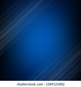 Dark Blue With Line With Gradient Mesh, Vector Illustration