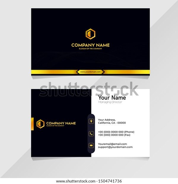 dark blue luxury name business card 库存矢量图(免版税)1504741736