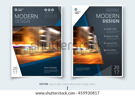 dark blue modern brochure design corporate stock vector royalty