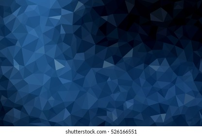 Dark blue Pattern. Seamless triangular template. Geometric sample. Repeating routine with triangle shapes. Seamless texture for your design. Pattern can be used for background.