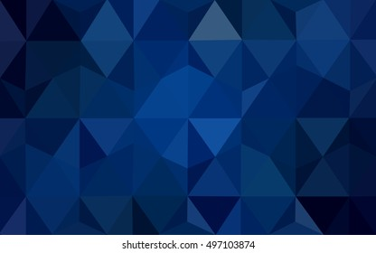 Dark blue polygon abstract background. An elegant bright illustration with gradient. The best triangular design for your business.