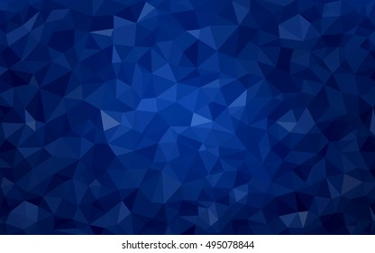 Dark blue polygonal background. Colorful abstract illustration with gradient. The textured pattern can be used for background.