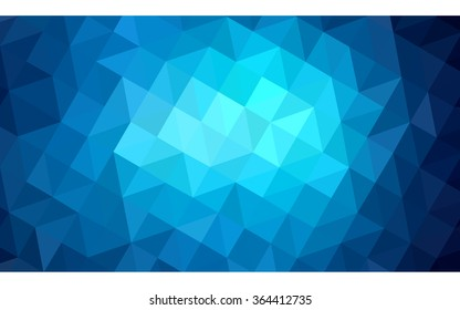 Dark blue polygonal illustration, which consist of triangles. Geometric background in Origami style with gradient. Triangular design for your business in vector.