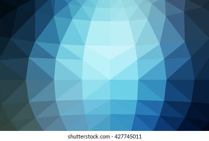 Dark blue polygonal illustration, which consist of triangles. Triangular design for your business. Creative geometric background in Origami style with gradient.