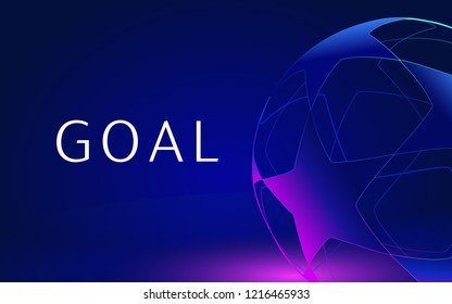 dark blue poster for goal background. Vector illustration