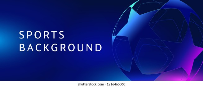 dark blue poster for sports background. Vector illustration