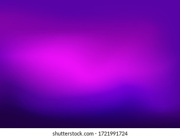 Dark Blue and Purple background vector template. Blurred aurora on abstract background with colorful gradient. good for ads, poster, banner of your website.