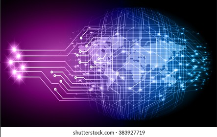 dark blue purple Light Abstract Technology background for computer graphic website internet and business.circuit.illustration.digital.infographics.binary code. www.vector.motion move blur. World map