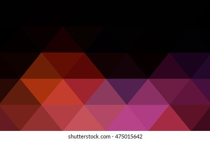Dark blue, red polygon abstract template. Brand-new colored illustration in blurry style with gradient. Triangular pattern for your business design.