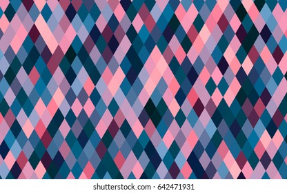 Dark Blue, Red vector abstract mosaic background. A sample with polygonal shapes. Triangular pattern for your business design.