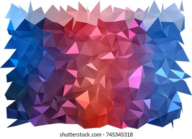 Dark Blue, Red vector abstract polygonal template. A vague abstract illustration with gradient. A completely new design for your business.