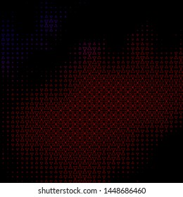 Dark Blue, Red vector background with lines, triangles. Abstract gradient design with colorful triangles. Pattern for websites.