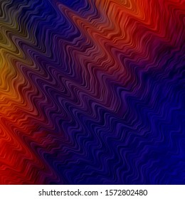 Dark Blue, Red vector background with wry lines. Abstract gradient illustration with wry lines. Pattern for business booklets, leaflets