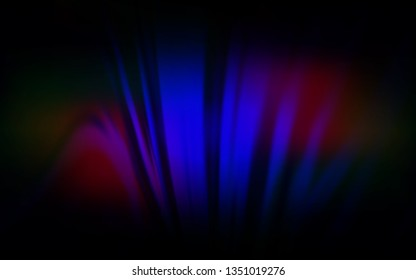 Dark Blue, Red vector blurred bright template. Glitter abstract illustration with gradient design. Background for designs.