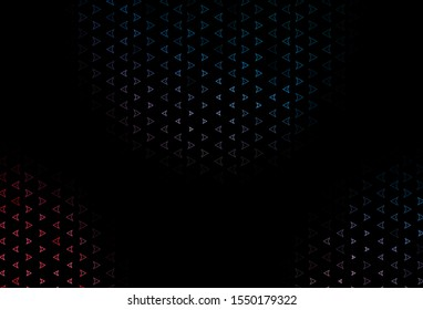 Dark Blue, Red vector layout with lines, triangles. Modern abstract illustration with colorful triangles. Pattern can be used for websites.