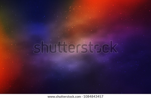 Dark Blue, Red vector layout with cosmic stars. Modern abstract illustration with Big Dipper stars. Smart design for your business advert.