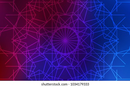 Dark Blue, Red vector natural elegant template. Colorful abstract illustration with lines drawn by child in Asian style. The textured pattern can be used for website.