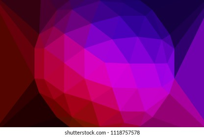 Dark Blue, Red vector polygonal background with a diamond. A sample with polygonal shapes. Brand new design for your business.