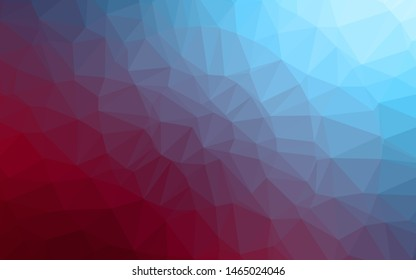 Dark Blue, Red vector shining triangular background. A vague abstract illustration with gradient. Polygonal design for your web site.
