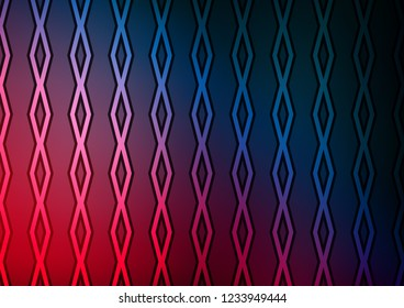 Dark Blue, Red vector template with sticks, squares. Colorful lines, squares on abstract background with gradient. Pattern for websites, landing pages.