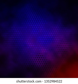 Dark Blue, Red vector template with circles. Abstract decorative design in gradient style with bubbles. Pattern for booklets, leaflets.