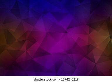 Dark Blue, Red vector triangle mosaic template. Geometric illustration in Origami style with gradient.  Brand new style for your business design.