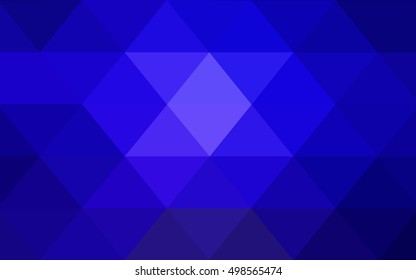 Dark blue shining triangular background. Shining illustration, which consist of triangles. A new texture for your design.