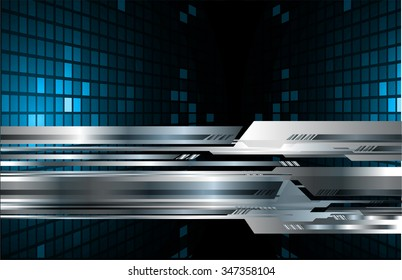 dark blue silver Light Abstract Technology background for computer graphic website internet and business. circuit. illustration. digital. infographics. motion. code background. www. vector.Spark.