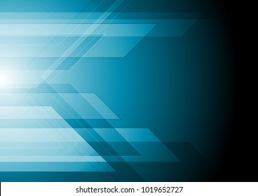 Dark blue technology geometric background. Vector graphic design
