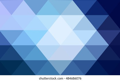 Dark blue triangle mosaic pattern. Shining colored illustration in a brand-new style. The template can be used as a background for cell phones.