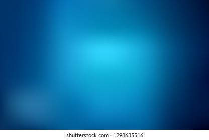 Dark BLUE vector abstract layout. Glitter abstract illustration with gradient design. Blurred design for your web site.