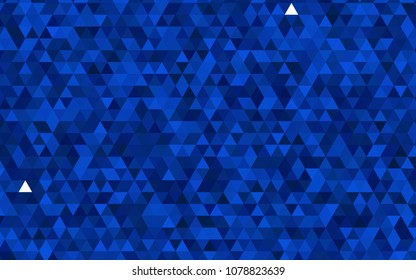 Dark BLUE vector abstract mosaic background. Colorful illustration in abstract style with gradient. The polygonal design can be used for your web site.