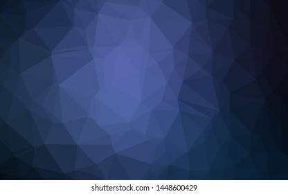Dark BLUE vector abstract mosaic background. A completely new color illustration in a vague style. Template for your brand book.