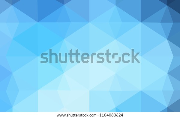 Dark BLUE vector abstract mosaic pattern. Shining polygonal illustration, which consist of triangles. Pattern for a brand book's backdrop.