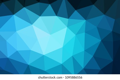 Dark BLUE vector abstract polygonal template. Creative geometric illustration in Origami style with gradient. A new texture for your web site.