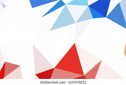 Dark BLUE vector abstract polygonal template. Shining polygonal illustration, which consist of triangles. Completely new template for your banner.