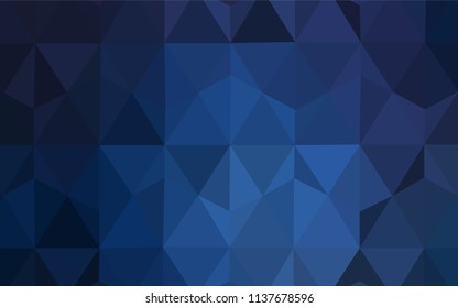 Dark BLUE vector abstract polygonal pattern. A completely new color illustration in a polygonal style. Pattern for a brand book's backdrop.