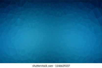 Dark BLUE vector abstract polygonal cover. Shining illustration, which consist of triangles. The template can be used as a background for cell phones.