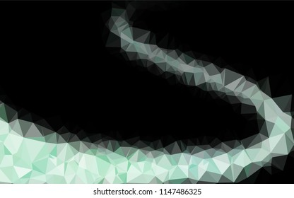Dark BLUE vector abstract polygonal texture. Shining colored illustration in a Brand new style. A completely new template for your business design.