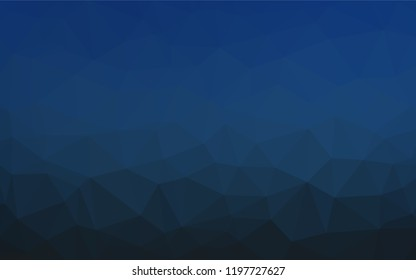 Dark BLUE vector abstract polygonal layout. A vague abstract illustration with gradient. The template can be used as a background for cell phones.
