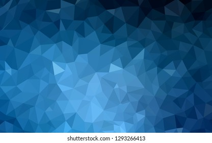 Dark BLUE vector abstract polygonal template. Glitter abstract illustration with an elegant triangles. Completely new template for your banner.