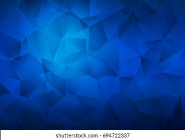 Dark BLUE vector abstract polygonal pattern. Creative geometric illustration in Origami style with gradient. Brand-new design for your business.