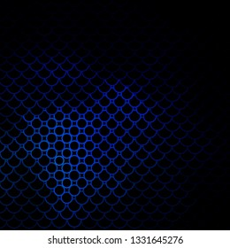 Dark BLUE vector backdrop with circles. Colorful illustration with gradient dots in nature style. Pattern for business ads.