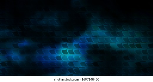Dark BLUE vector backdrop with rectangles. Rectangles with colorful gradient on abstract background. Pattern for commercials, ads.
