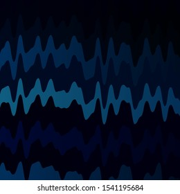 Dark BLUE vector background with bent lines. Colorful illustration, which consists of curves. Pattern for websites, landing pages.