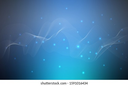 Dark BLUE vector background with bubbles. Glitter abstract illustration with blurred drops of rain. Completely new template for your brand book.
